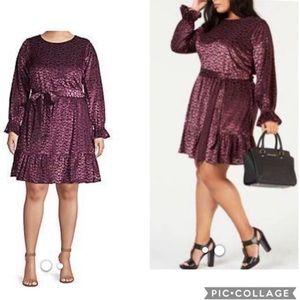 🌻 MICHAEL Michael Kors Smocked Tie Velvet Dress